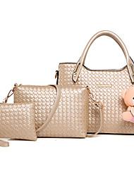 Donna Sacchetti Per tutte le stagioni PU (Poliuretano) sacchetto regola Set di borsa da 3 pezzi Borchie Ciondoli/gioielli per Casual