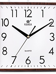 cheap -1pc  Square Living Room Bedroom Wall Clock Simple Chinese Creative Wall Clock Mute Electronic Quartz Watch