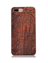 Para Antigolpes En Relieve Diseños Funda Cubierta Trasera Funda Animal Dura Madera para AppleiPhone 7 Plus iPhone 7 iPhone 6s Plus/6 Plus