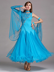 Danse de Salon Robes Femme Spectacle Spandex Dentelle Tulle Robe