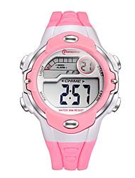 Infantil Relógio Esportivo Relógio de Moda Relogio digital Quartzo Digital Plastic Banda Preta Branco Vermelho Rosa Roxa Amarelo