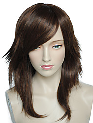 Cosplay Wigs Long Natural Wavy Little Brown Women Party  Costume Cosplay Wigs Hairstyle With Cap