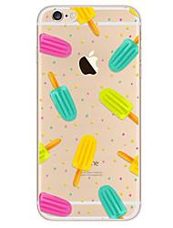 Недорогие -Назначение iPhone X iPhone 8 iPhone 7 iPhone 7 Plus iPhone 6 Чехлы панели Ультратонкий С узором Задняя крышка Кейс для Продукты питания