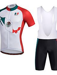 Miloto Cycling Jersey with Bib Shorts Men's Short Sleeves Bike Bib Shorts Shorts Shirt Sweatshirt Jersey Bib Tights Top Quick Dry