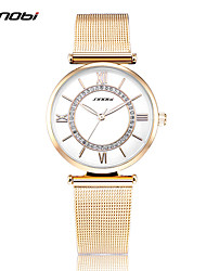 SINOBI® Women's Fashion Watch Quartz Water Resistant / Water Proof Shock Resistant Stainless Steel Band Charm Gold Watch