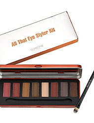Makeup Palette Natural Eye Makeup Light 8 Colors Eye Shadow Makeup Shimmer Matte Eyeshadow Palette Set