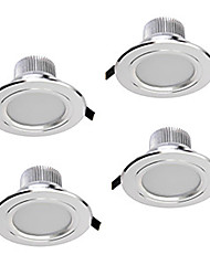 abordables -ZDM® 4pcs 5W 400-450lm 5 LED Intensité Réglable LED Encastrées Blanc Chaud Blanc Froid Blanc Naturel AC110 AC220 AC 12V