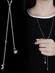 abordables -Etoile Forme Géométrique Basique Mode Pendentif de collier Collier Y Zircon cubique Plaqué argent Alliage Pendentif de collier Collier Y
