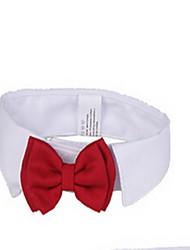 preiswerte -Hund Halsbänder Nette und Kuscheltiere Schleife Stoff Rot