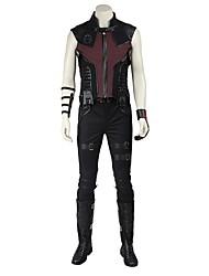 Superhéros Cosplay Costume de Cosplay Pour Halloween Costume de Soirée Bal Masqué Cosplay de Film Manteau Pantalon Ceinture Bottes Plus