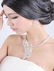 abordables -Mujer Juego de Joyas Diamante sintético Nupcial Boda Fiesta Diario Diamante Sintético Legierung Pájaro Animal 1 Collar 1 Par de Pendientes