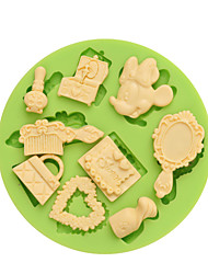 New Arrival 9 Holes Silicone Mold Woman Daily Supplies Fondant Cake Docarating Cooking Tools