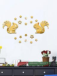 economico -Animali Specchi Moda Adesivi murali Adesivi aereo da parete Adesivi  a parete specchio Adesivi decorativi da parete,Vetro Materiale