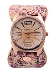 Women's Fashion Watch Wrist watch Quartz Genuine Leather Band Casual Multi-Colored