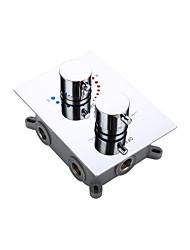 termostática banho de cromo torneira do chuveiro Válvula misturadora de 3 maneiras escondidas caixa de fácil montagem incorporado