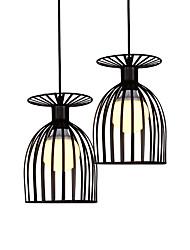 cheap -Retro Simple Metal Cage Loft Mini Pendant Lights Metal Dining Room Kitchen Bar Cafe Hallway Light Fixture