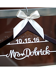 Personalized Wedding Hanger Custom Wedding Dress Hanger with Name and Date Hand Painted in Silver or Gold