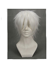 Parrucche Cosplay NO.6 Cosplay Bianco Corto Anime Parrucche Cosplay 30 CM Uomo / Donna