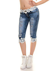 Mid Rise Stretchy Jeans Pants,Sexy Simple Street chic Skinny Solid