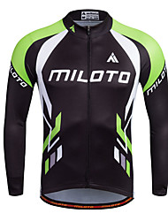 cheap -Miloto Men's Long Sleeve Cycling Jersey Bike Jersey, Quick Dry, Breathable, Sweat-wicking