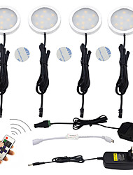 ONDENN 1200lm 12pcs LEDs Remote Controlled Dimmable Easy Install Waterproof  Linkable Decorative Remote Controlled Under Cabinet Lights Idea