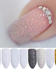 cheap -2g/Box Holographic Nail Glitter Powder Shining Sugar Nail Glitter Dust Powder Nail Art Decorations Set