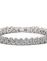 cheap -Women's Chain Bracelet Crystal Natural European Rhinestone Imitation Diamond Flower Jewelry Gift Valentine