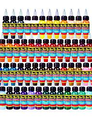 54 × 10 ml varietà di colori Inchiostri classici per tatuaggi pigmento del tatuaggio Imposta colore colori trucco