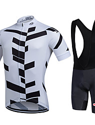 cheap -Fastcute Cycling Jersey with Bib Shorts Men's Short Sleeves Bike Bib Shorts Jacket Shorts Shirt Sweatshirt Jersey Bib Tights Top Clothing