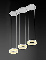 cheap -3 Heads Acrylic Modern Style Simplicity LED pendant lights Metal Living Room Bedroom Dining Room Light Fixture