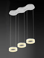 Недорогие -3 головы акрил современный стиль простота привело подвесные огни металл гостиная спальня столовая свет светильник