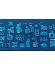 economico -QJ la letteratura e l'arte 1pc la fotocamera uno strumento di arte rettangolo di chiodo di stampare il modello