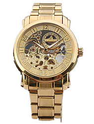 cheap -Men's Sport Watch / Fashion Watch / Dress Watch Hollow Engraving / Designers / Large Dial Alloy Band Charm / Casual Multi-Colored / Automatic self-winding