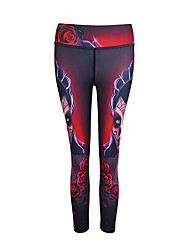 cheap -Women's Running Baselayer / Running Tights / Gym Leggings Sports Fashion, Digital Modal Pants / Trousers Yoga, Fitness, Gym Activewear Quick Dry, Breathable, Soft High Elasticity