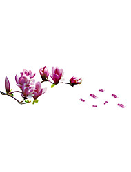 Wall Stickers Wall Decals Style Blooming Flower PVC Wall Stickers