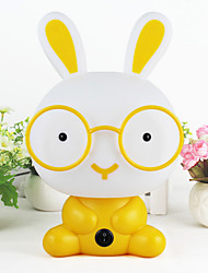 1PC Creative Led Cartoon Rabbit Eye Lamp Three Adjustable Optical Glasses Cute Rabbit Touch Nightlight (Random Color)