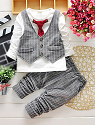 Ensemble de Vêtements Boy Damier Printemps / Automne Coton
