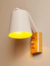 Недорогие -творческой личности выключатель Теплое дерево железная кровать лампа с нордической исследования коридора