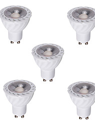 cheap -5pcs 3.5W 480 lm GU10 GX5.3 LED Spotlight MR16 1 leds COB Decorative Warm White Cold White 2700-6500KK AC 220-240V