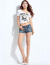 Women's Casual Denim Pants Daily Slim Short Jeans