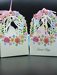 cheap -Creative Card Paper Favor Holder with Ribbons Favor Boxes - 50