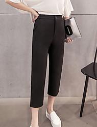 segno di primavera QBD 2017 donne harem pants grandi iarde allentate pantaloni neri femminile edizione pantaloni collant carota