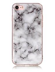 Per iPhone X iPhone 8 Custodie cover IMD Fantasia/disegno Custodia posteriore Custodia Effetto marmo Morbido TPU per Apple iPhone X