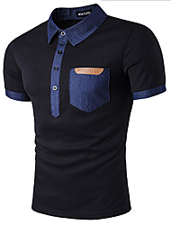 cheap -Men's Cotton Polo - Solid Colored