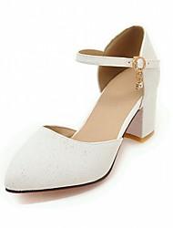 Недорогие -Жен. Обувь Дерматин Полиуретан Весна Лето Удобная обувь Оригинальная обувь Обувь на каблуках Для прогулок На толстом каблуке Блочная пятка