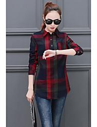 2017 весной новый корейский моды клетчатую рубашку с длинными рукавами и длинные рубашки женщин&# 39, S модели весеннего половодья