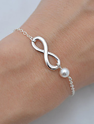 cheap -Women's Chain Bracelet Pearl Basic Costume Jewelry Bohemian Fashion Simple Style Pearl Alloy Infinity Jewelry For Wedding Party Birthday