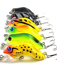 cheap -6 pcs Hard Bait Others Fishing Lures Frog Hard Bait Hard Plastic Sea Fishing Fly Fishing Bait Casting Ice Fishing Spinning Jigging