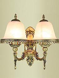 abordables -Rústico/Campestre Tradicional/Clásico Moderno/Contemporáneo Lámparas de pared Para Metal Luz de pared 220v 110V 2*60W