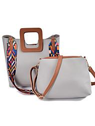 Damen Taschen Ganzjährig PU Bag Set für Normal Blau Schwarz Grau Grün